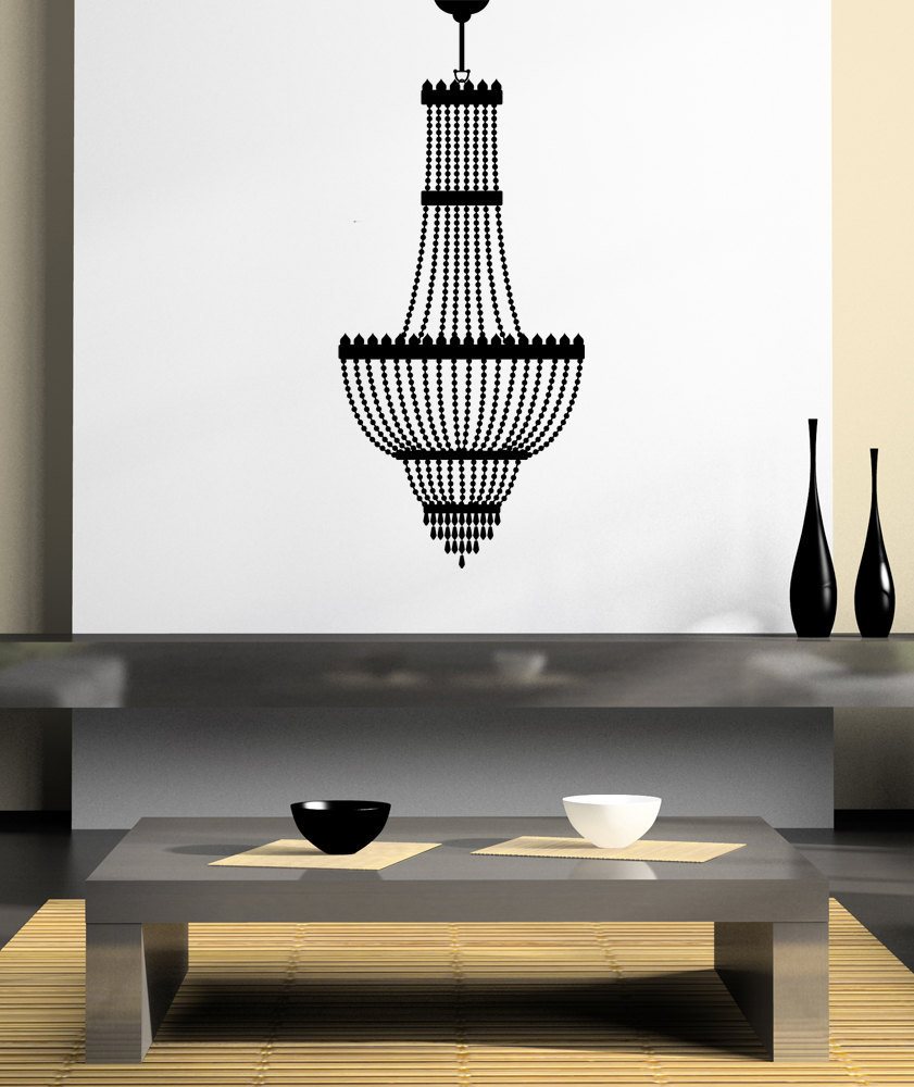 Chandelier of Pearls - Vinyl Wall Art Decal