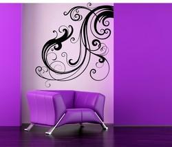 Beautiful Decorative Flourish - Vinyl Wall Art Decal - $68.00