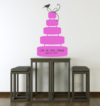 Wedding Cake (can be personalized) - Vinyl Wall Art Decal - $42.00