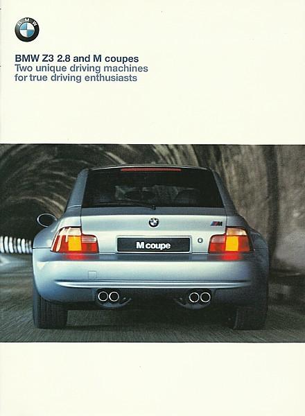1999 2000 Bmw Z3 Coupe Sales Brochure Catalog Us 00 2 8 M