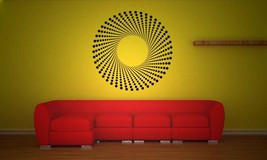 Retro 3D Dot Medallion - Vinyl Wall Art Decal - $59.00