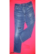 Lee Blue Denim Whiskered Jeans Size 42 x 28 Made in USA - $15.99
