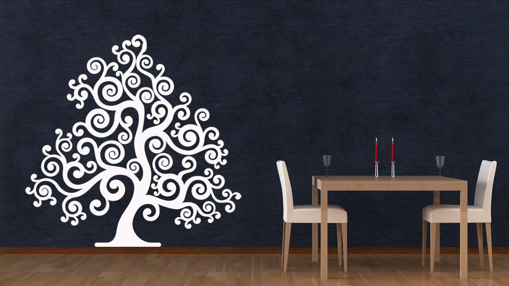 Swirly Tree - Vinyl Wall Art Decal