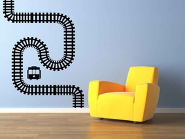 Train Tracks - Vinyl Wall Art Decal - $69.00