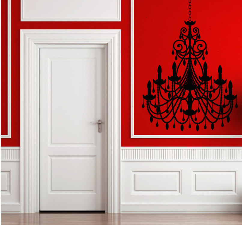Baroque Intricate Chandelier - Vinyl Wall Art Decal