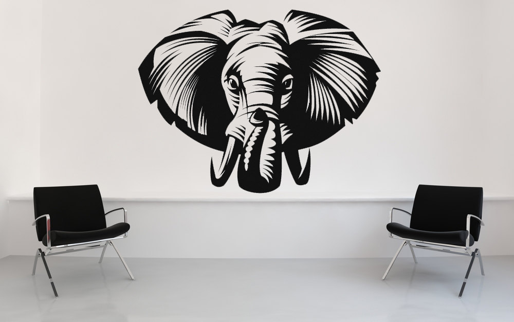 Primary image for Elephant Face - Vinyl Wall Art Decal