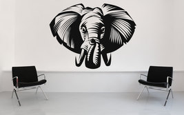 Elephant Face - Vinyl Wall Art Decal - $32.00