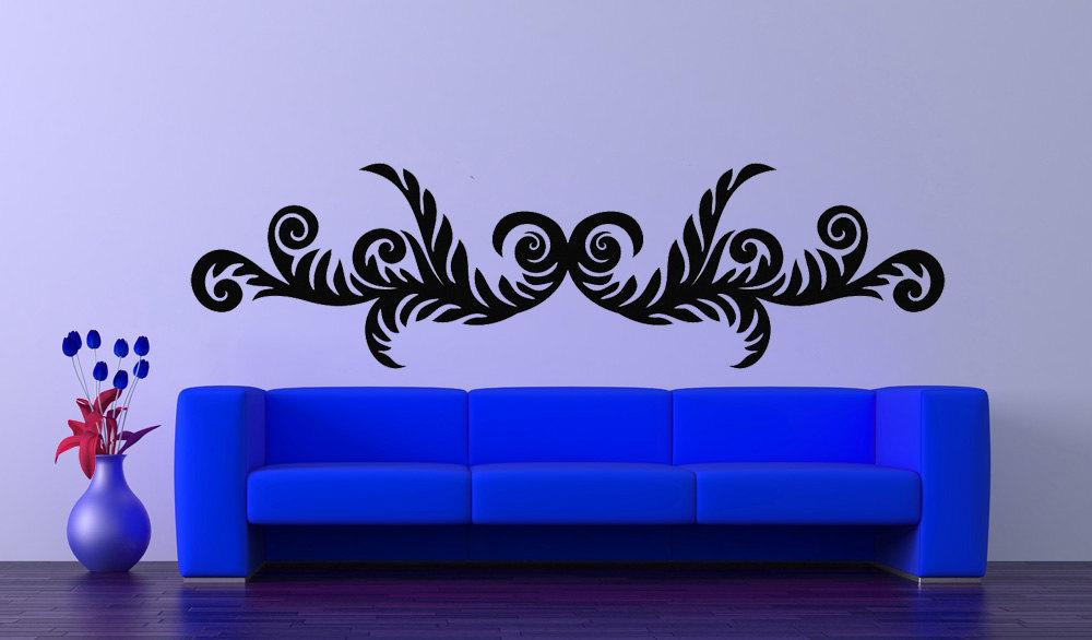 Acanthus Swirl Leaf Art - Vinyl Wall Decal