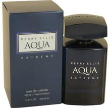 Perry Ellis Aqua Extreme Cologne  By Perry Ellis for Men 3.4 oz Eau De T... - $32.50