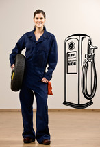 Gas Pump Retro - Vinyl Wall Art Decal - $45.00