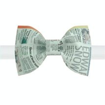 Stylish Bow Tie Newspaper Design Pattern Men Ties Neckties Boys Bow Ties Type C