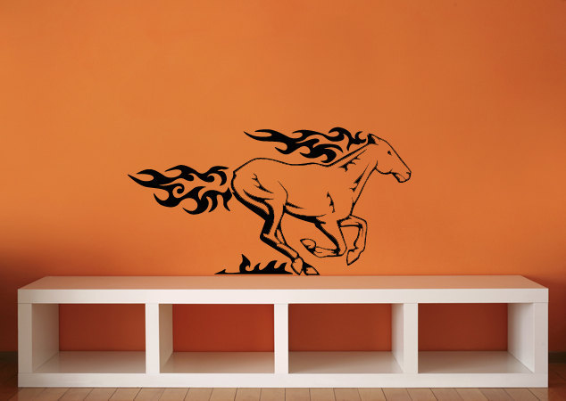 Flaming Horse - Vinyl Wall Art Decal