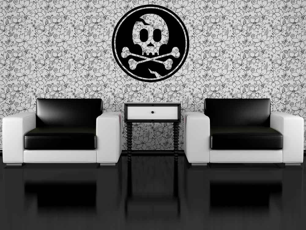 Cool Skull Icon - Vinyl Wall Art Decal
