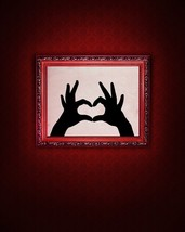 Hands Making a Heart - Vinyl Wall Art Decals - $20.00