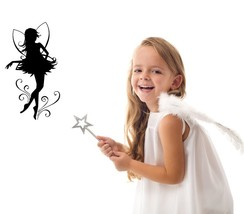 Fairy with Wings Silhouette - Vinyl Wall Art Decal - $34.00