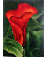 Original Art Painting Acrylic beautiful Calla Lily - $125.00