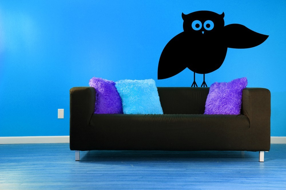 Primary image for Whimsical Owl - Vinyl Wall Art Decal