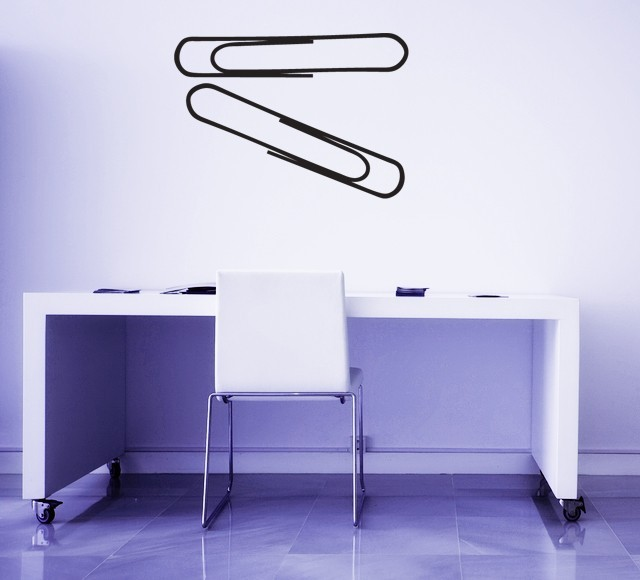 Paper Clips (Set of 2) - Vinyl Wall Art Decal