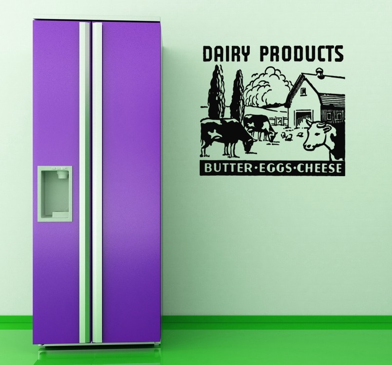 Dairy Products Retro Ad - Vinyl Wall Art Decal