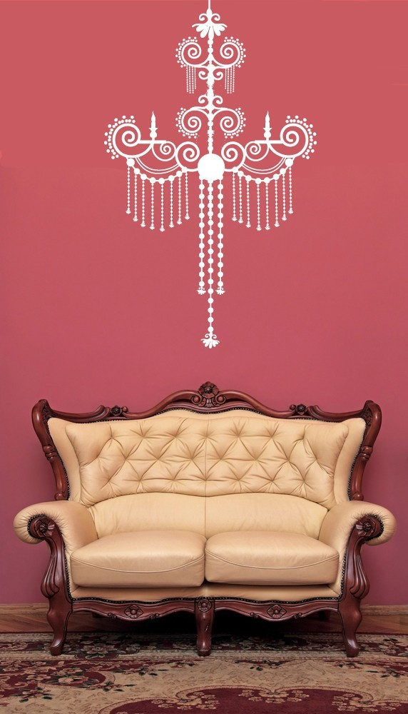 Primary image for Baroque Decorative Chandelier - Vinyl Wall Art Decal