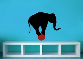 Circus Elephant on Ball - Vinyl Wall Art Decal - $28.00