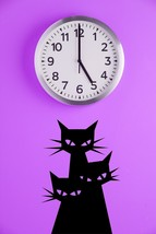 Silhouette of 3 Cats - Vinyl Wall Art Decal - $32.00