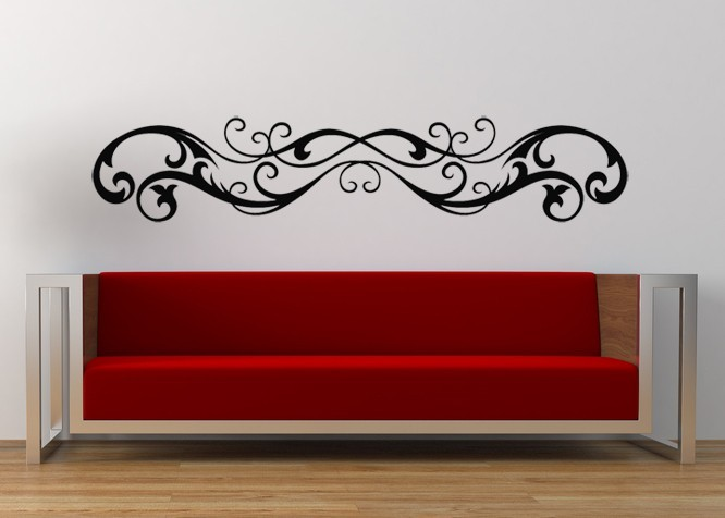Victorian Swirl Art - Vinyl Wall Decal