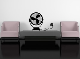 Table Fan - Vinyl Wall Art Decal - $22.00