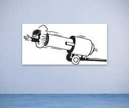 Man Shooting From Cannon Retro - Vinyl Wall Art Decal - $22.00