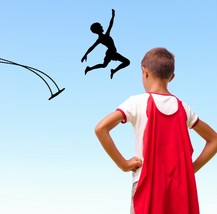 Boy Jumping Out of Swing - Vinyl Wall Art Decal - $38.00