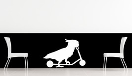 Parrot on a Scooter - Vinyl Wall Art Decal - $18.00
