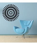 Retro Wall Medallion - Vinyl Wall Art Decal - $34.00