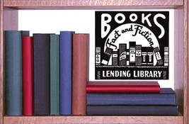 Books Retro Ad - Vinyl Wall Art Decal - $34.00