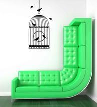 Decorative Chandelier with Birds - Vinyl Wall Art Decal - $44.00