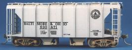 Funaro & Camerlengo HO B&O Wagontop covered hopper, Steam Era decals, kit 7050 image 2