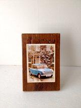 Rustic Decoupage - Item 3535 - Iconic Old Mini' -  5 x 8 - Reclaimed Woo... - $27.50