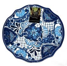 """3 Nicole Miller Spanish Tile Floral 11"""" Melamine Scalloped Dinner Plates... - $38.99"""