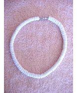 LOVELY WHITE PUKA SHELL BRACELET W BARREL CLASP - $11.93