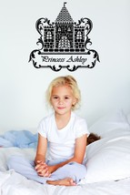 Personalized Royal Castle for your Princess - Vinyl Wall Art - $38.00