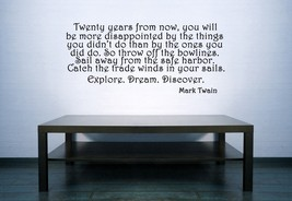 Inspirational Mark Twain - Vinyl Wall Art Decal - $38.00