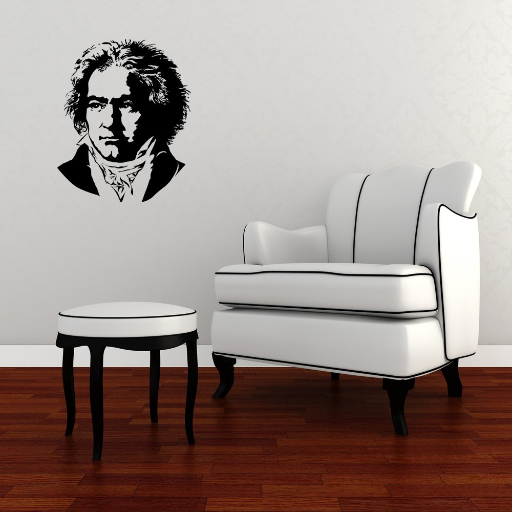Beethoven Bust - Vinyl Wall Art Decal