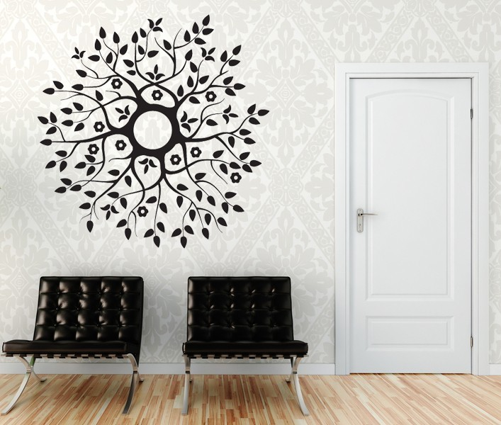 Blossoming Branches Medallion - Vinyl Decal