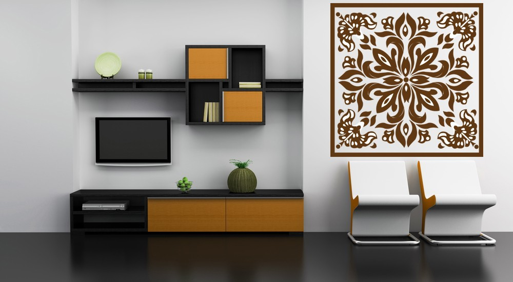 Decorative Square Medallion - Vinyl Wall Art Decal