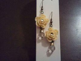 Yellow Rose earring - $10.00