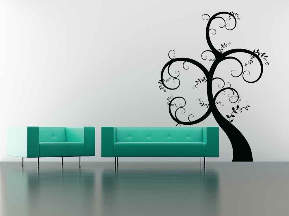 Stylized Swirl Tree - Vinyl Wall Art Decal
