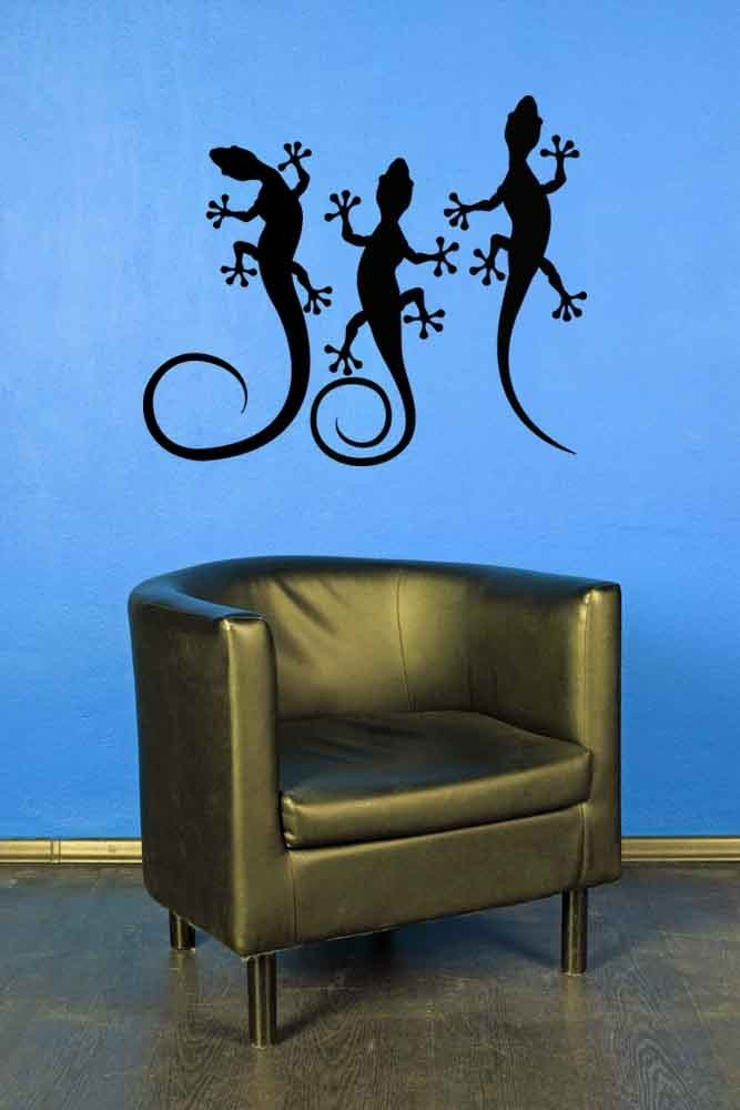 Geckos (Lot of 3) - Vinyl Wall Art Decal