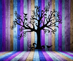 Tree Silhouette with 2 Birds - Vinyl Wall Art Decal - $69.00