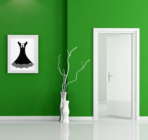 Retro Dress - Vinyl Wall Art Decal
