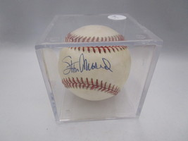 STAN MUSIAL / MLB HALL OF FAME / AUTOGRAPHED RAWLINGS BASEBALL IN CUBE / JSA COA image 5