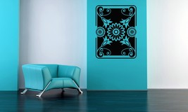 Retro Floral Rectangular Art - Vinyl Wall Art Decal - $32.00